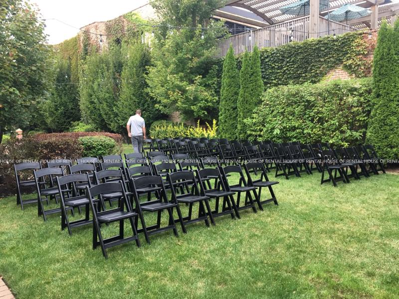 11 black folding chair