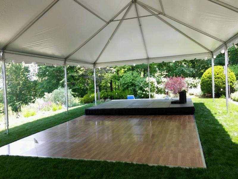 10 frame tent dance floor