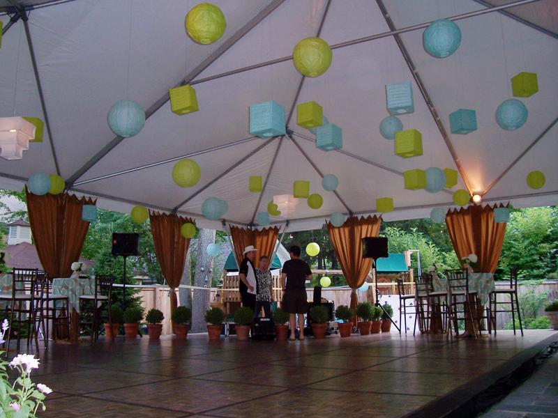 11 graduation tent dance floor