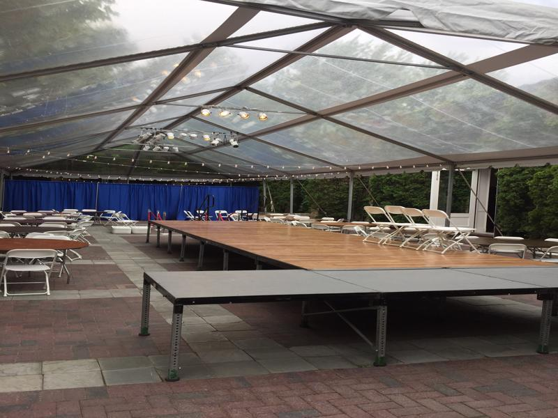 12 clear top tent stage