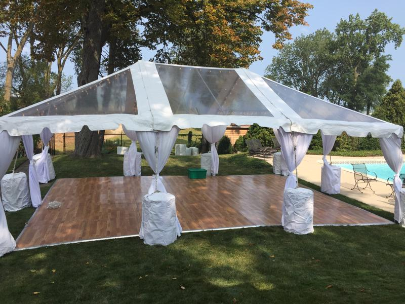 3 clear top tent dance floor