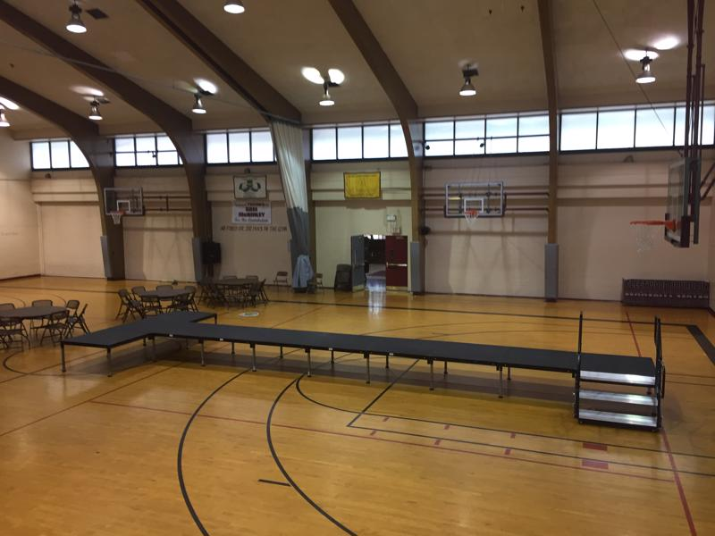 38 school gym stage