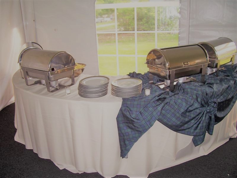 43 chafing dishes