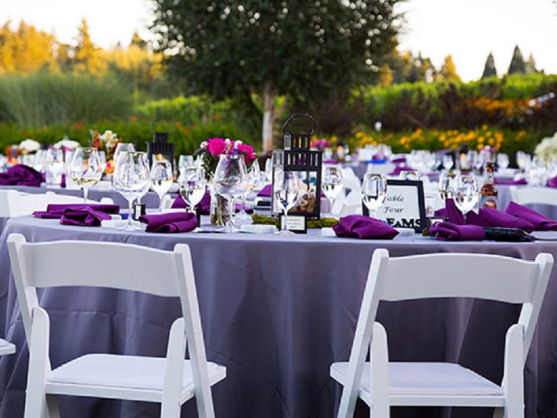 57 purple linen tablecloth