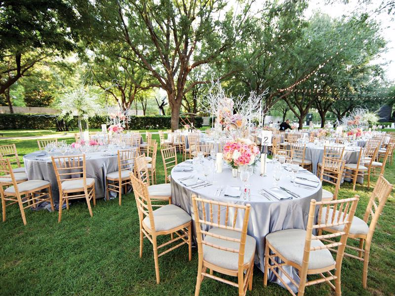 7 natural wood chiavari chairs
