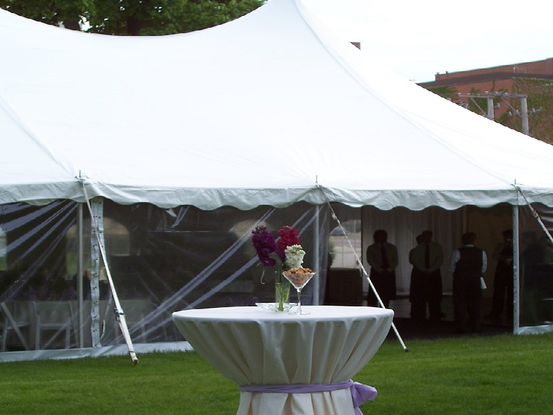 tent bar height table