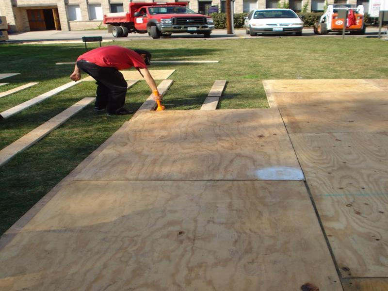 7 plywood tent floor