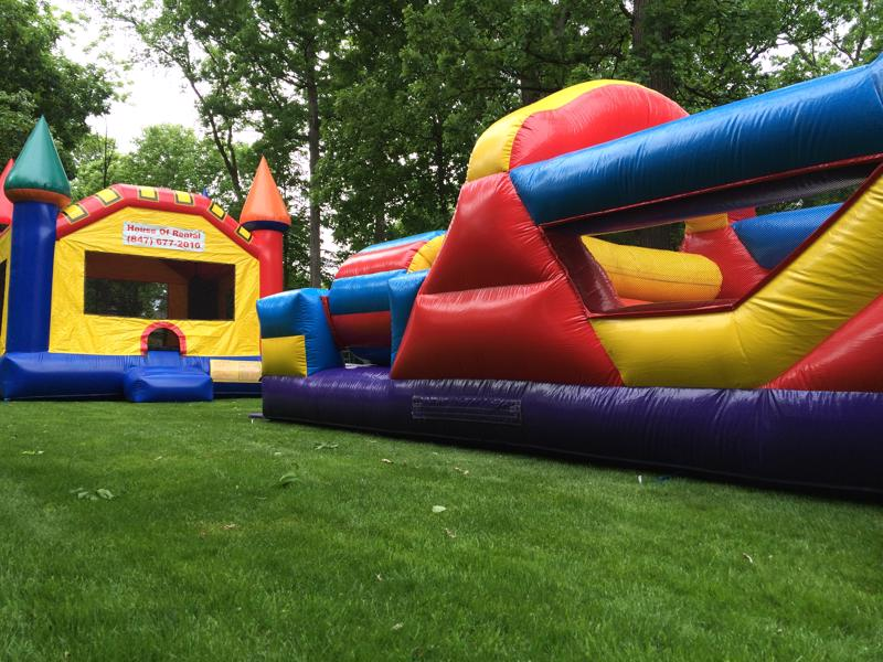 11 bouncy house obstacle course