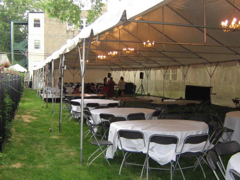 19 frame tent with chandelier
