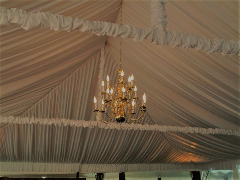 21 tent liner with chandelier