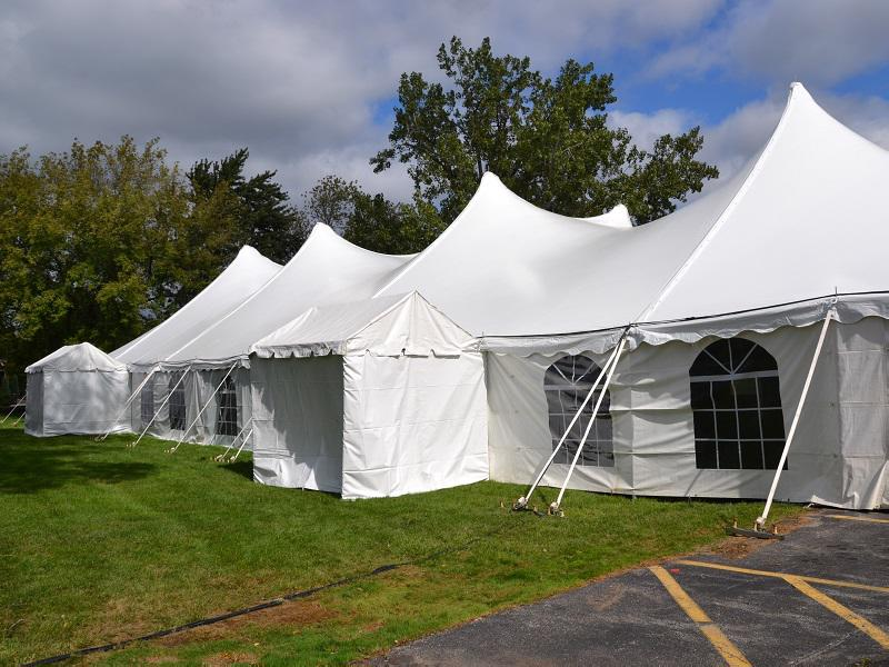 1 pole tent window walls