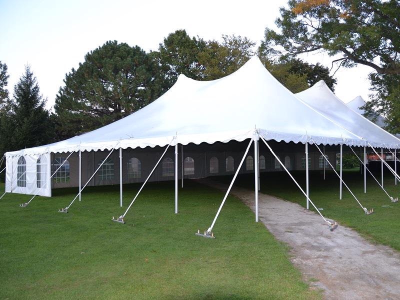 3 white tent window walls