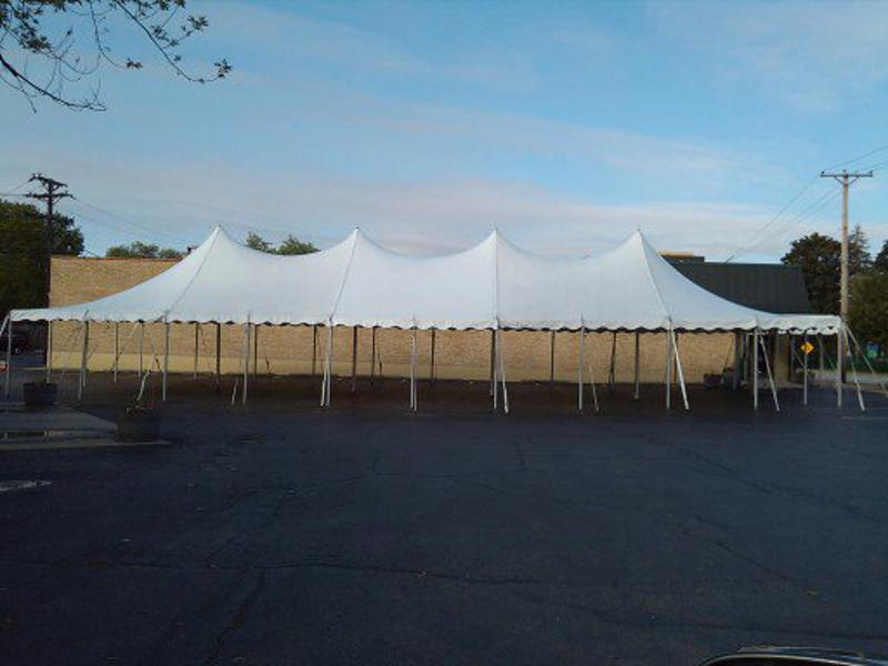 37 tent in parking lot
