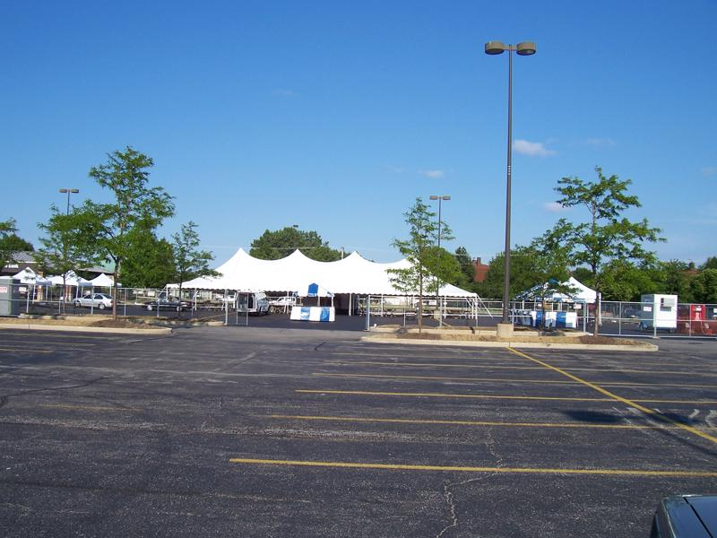57 tents parking lot