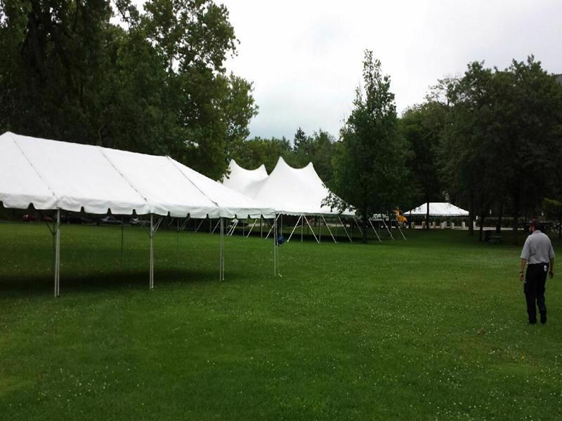 43 large tents