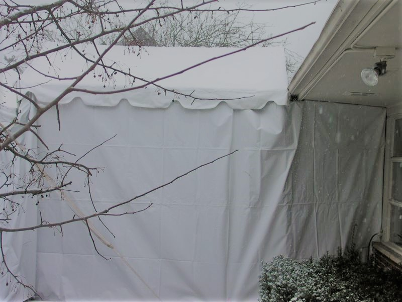 23 party tent winter snow