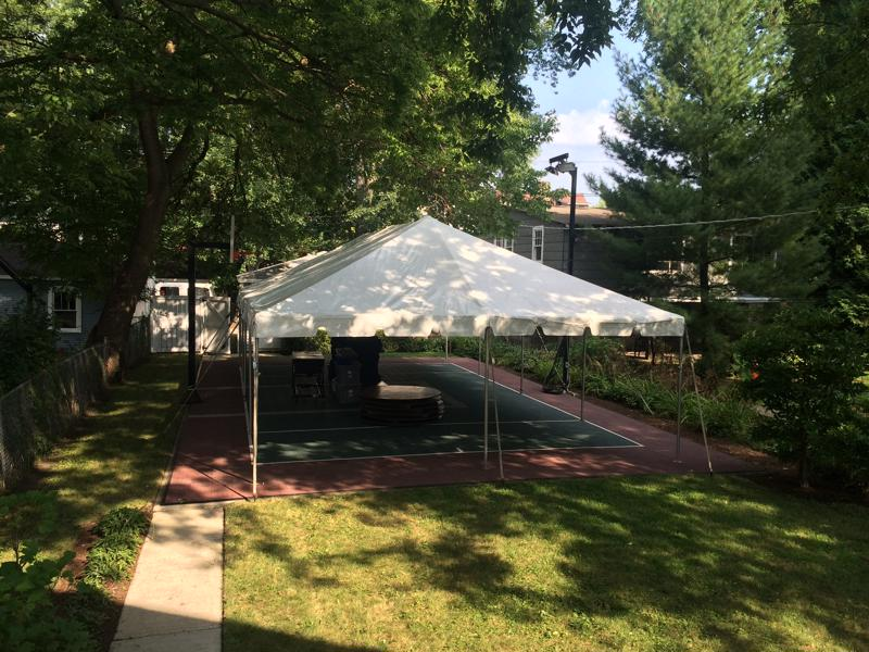 37 tent on tennis court