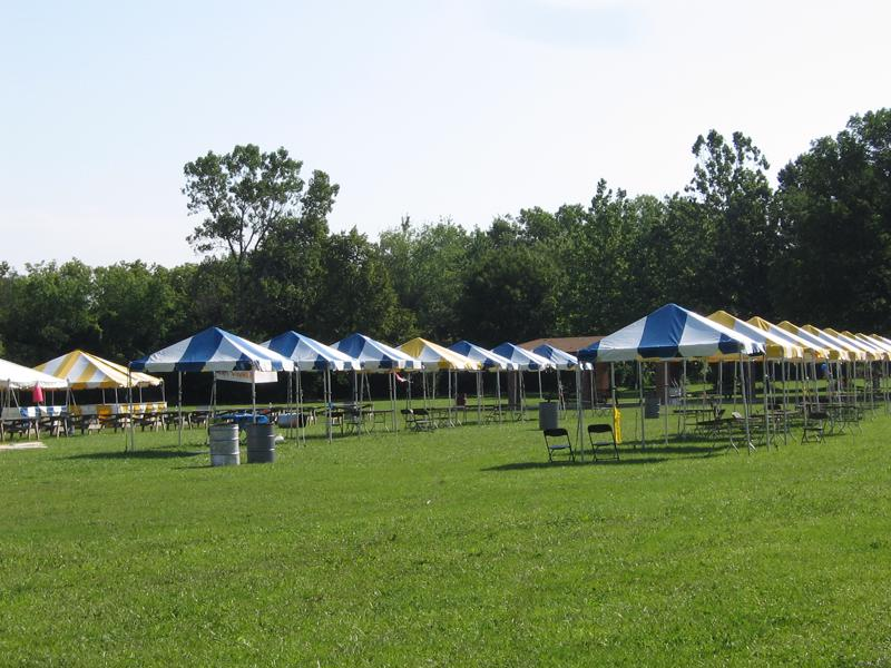 9 festival blue white tents