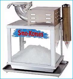 sno cone machine rental chicago