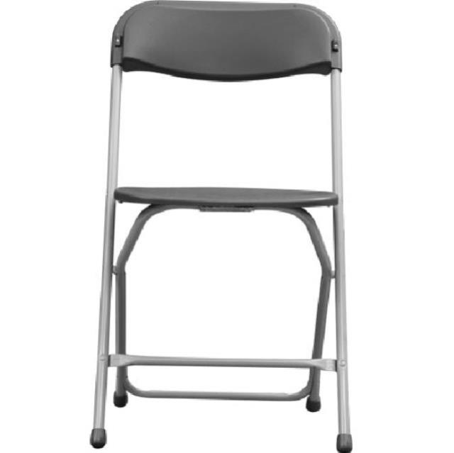 Where to find CHAIR, FOLDING CHARCOAL w Gray Legs in Chicago
