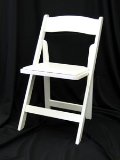 Where to rent CHAIR, RESIN WHITE folding in Chicago IL