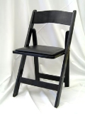Rental store for CHAIR, RESIN BLACK folding in Chicago IL