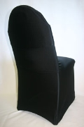 Where to rent CHAIR COVER BLACK spandex in Chicago IL
