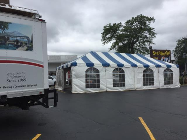 Where to find 20x40, B W - FIESTA FRAME TENT in Chicago