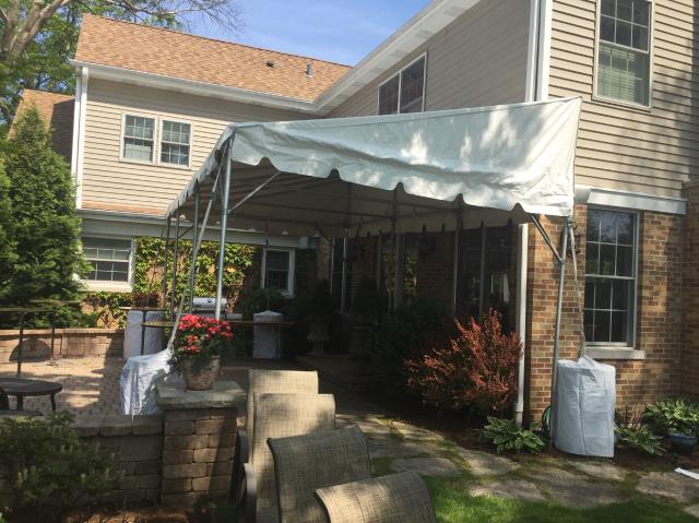 Where to find 12x22, WHITE - PAVILION FRAME AWNING in Chicago