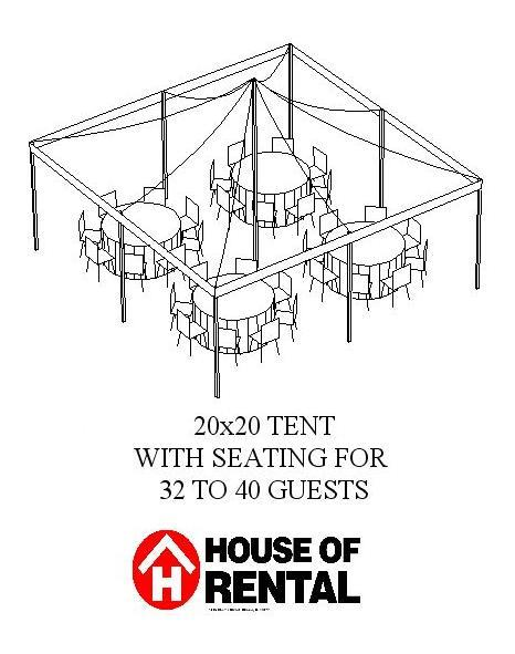 tent party layout  32 guests for dinner rentals chicago il  where to rent tent party layout  32