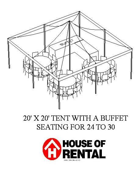 Where to find TENT PARTY LAYOUT. BUFFET FOR 24 GUESTS in Chicago