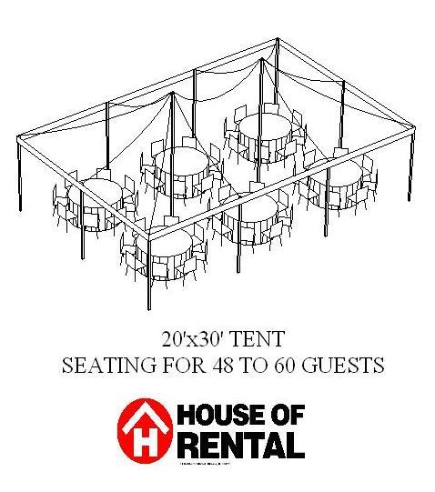 tent party layout  48 guests for dinner rentals chicago il  where to rent tent party layout  48