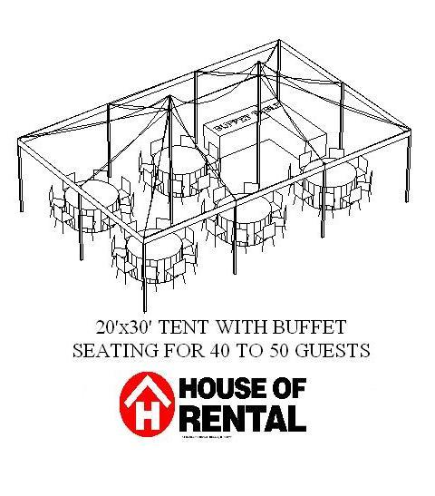 Where to find TENT PARTY LAYOUT. BUFFET FOR 40 GUESTS in Chicago