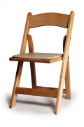 Where to rent CHAIR, WOOD NATURAL w carmel pad in Chicago IL