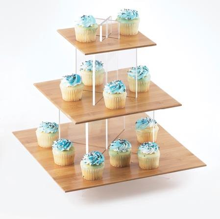 Where to find CUPCAKE STAND, 3 TIER BAMBOO in Chicago