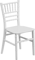 Where to rent CHAIR,  KIDS WHITE CHIAVARI in Chicago IL