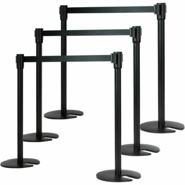 Where to find STANCHION, BLACK POST W 6  BLACK BELT ea in Chicago