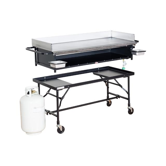 Where to find GRIDDLE, 20 x 52  L.P. with cart in Chicago