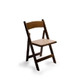 Rental store for CHAIR, WOOD WALNUT w Ivory pad in Chicago IL