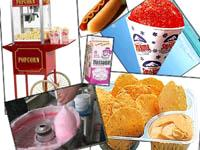 Rent your hot dog machine, sno cone machine, nacho machine, slush machine, margarita machine, drink machine, popcorn maker, popcorn cart, cotton candy maker, glenview, wheeling, skokie, carnival food machines, popcorn supplies. snow cone, soft pretzel machine