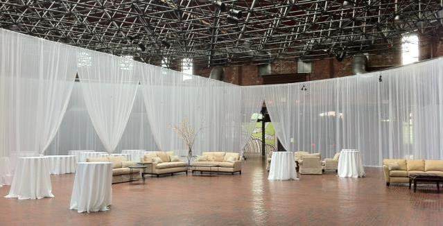 Rent your pipe and drape rental, booth, booth rental, banjo cloth, black drape, blue drape, white drape, expo booth, fabric booths, booth rental,  fashion show drapes, wedding backdrop, room divider rental, sheer wall, fabric column rental, fabric wall, backdrop,